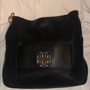 Tory Burch Black Britten Hobo Shoulder Bag ~ READ!